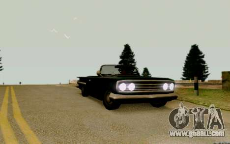 Voodoo Convertible (version with headlights) for GTA San Andreas right view