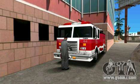 Realistic fire station in Los Santos for GTA San Andreas third screenshot