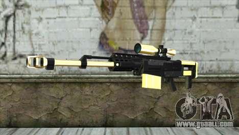 Golden Sniper Rifle for GTA San Andreas
