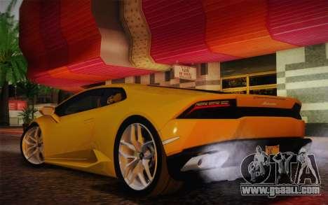 Lamborghini Huracan 2013 for GTA San Andreas right view
