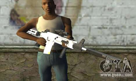 Golden M4A1 for GTA San Andreas third screenshot
