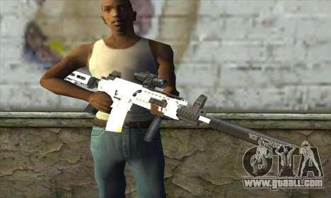 Golden M4A1 for GTA San Andreas third screenshot
