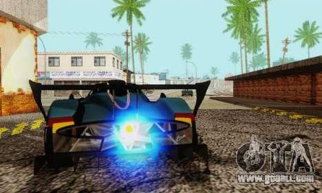 Pagani Zonda Type R Black for GTA San Andreas back view
