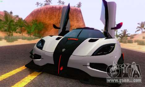 Koenigsegg One 2014 for GTA San Andreas left view