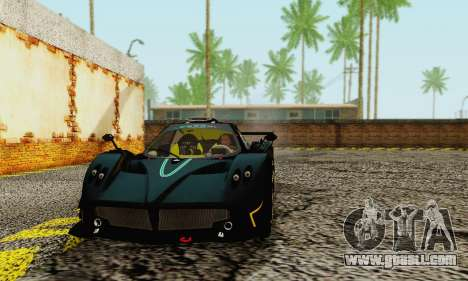 Pagani Zonda Type R Black for GTA San Andreas left view