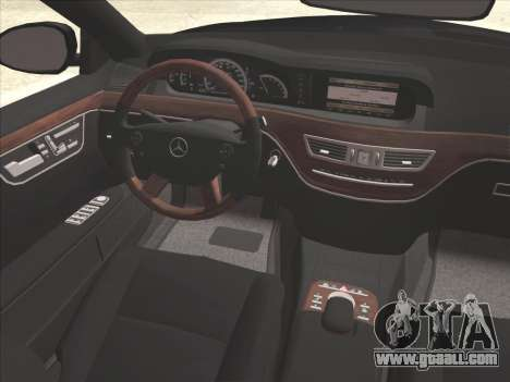 Mercedes-Benz S65 AMG for GTA San Andreas interior