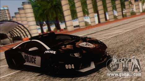 Lamborghini Aventador LP 700-4 Police for GTA San Andreas back left view