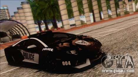 Lamborghini Aventador LP 700-4 Police for GTA San Andreas back left view