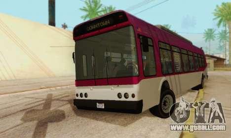 Transit Bus из GTA 5 for GTA San Andreas back left view