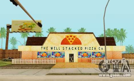 The new texture pizzerias and amenities at Delud for GTA San Andreas ninth screenshot