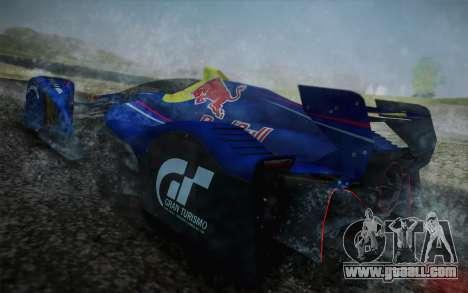 GT Red Bull X10 Sebastian Vettel for GTA San Andreas side view