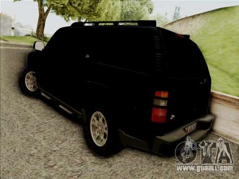 Chevrolet Suburban for GTA San Andreas inner view