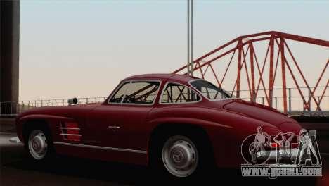 Mercedes-Benz 300SL 1955 for GTA San Andreas left view