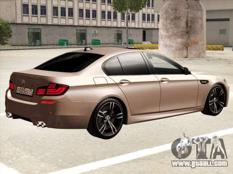 BMW M5 F10 2012 for GTA San Andreas back left view