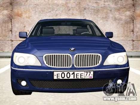 BMW 760Li for GTA San Andreas left view