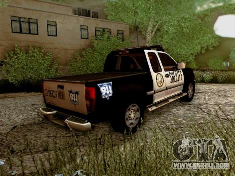 Chevrolet Colorado Sheriff for GTA San Andreas right view