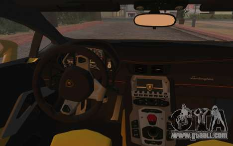 Lamborghini Huracan 2013 for GTA San Andreas inner view