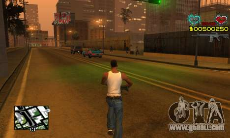 C-HUD New Liberia for GTA San Andreas
