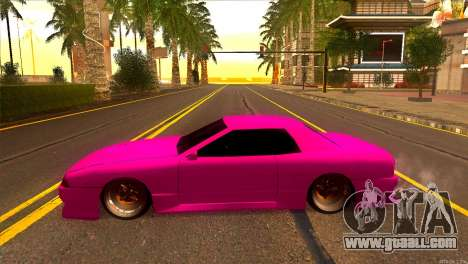 Elegy New Drifter v2.0 for GTA San Andreas left view