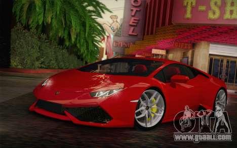 Lamborghini Huracan 2013 for GTA San Andreas