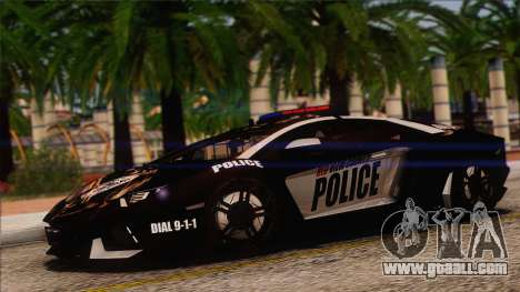 Lamborghini Aventador LP 700-4 Police for GTA San Andreas upper view