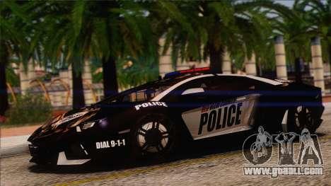 Lamborghini Aventador LP 700-4 Police for GTA San Andreas upper view