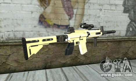 Golden M4A1 for GTA San Andreas second screenshot