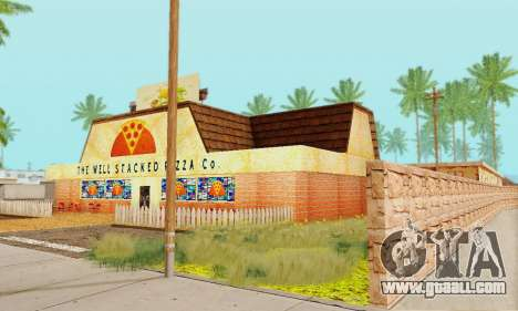 The new texture pizzerias and amenities at Delud for GTA San Andreas