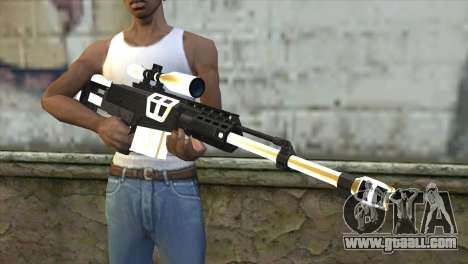 Golden Sniper Rifle for GTA San Andreas third screenshot