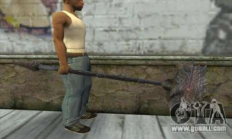 The axe of Skyrim for GTA San Andreas third screenshot