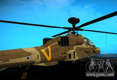 AH-64 Longbow Apache for GTA San Andreas right view