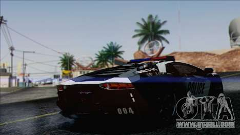 Lamborghini Aventador LP 700-4 Police for GTA San Andreas left view