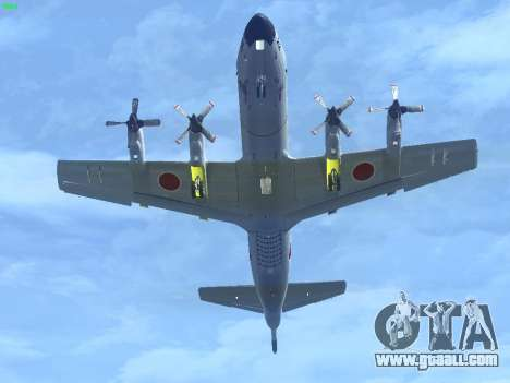 Lockheed P-3 Orion FAJ for GTA San Andreas back left view
