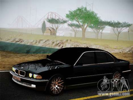 BMW 730d E38 1999 for GTA San Andreas back left view