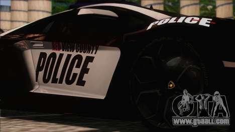 Lamborghini Aventador LP 700-4 Police for GTA San Andreas back view