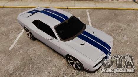 Dodge Challenger SRT8 2012 for GTA 4 upper view