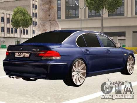 BMW 760Li for GTA San Andreas right view