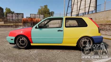 Volkswagen Golf MK3 Harlequin for GTA 4 left view