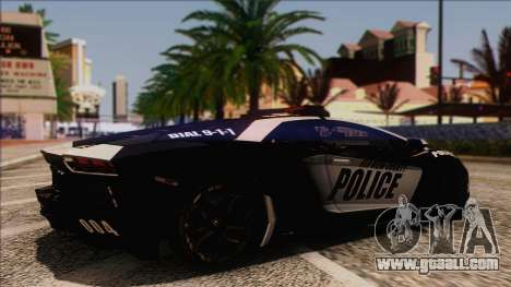 Lamborghini Aventador LP 700-4 Police for GTA San Andreas right view