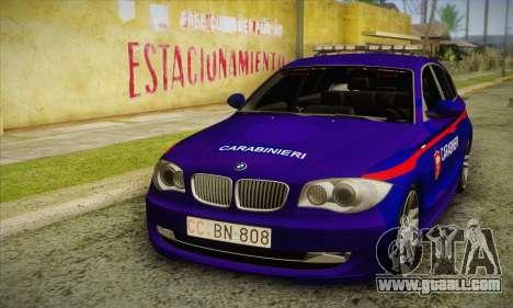 BMW 120i SE Carabinieri for GTA San Andreas