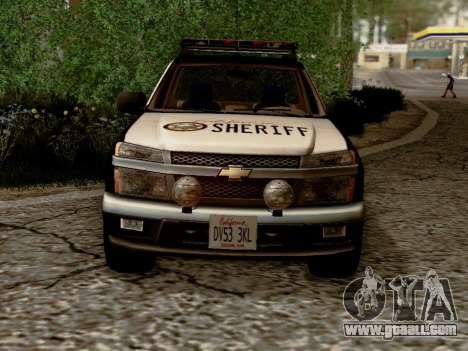 Chevrolet Colorado Sheriff for GTA San Andreas inner view