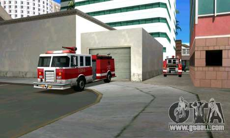 Realistic fire station in Los Santos for GTA San Andreas second screenshot