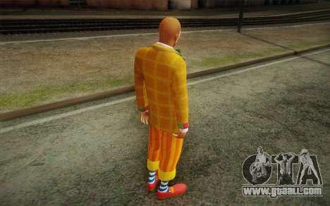 The clown from GTA 5 for GTA San Andreas third screenshot