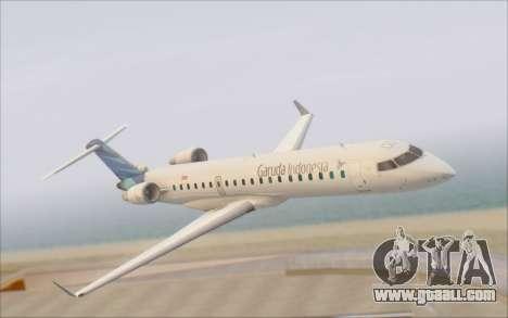 Garuda Indonesia Bombardier CRJ-700 for GTA San Andreas right view