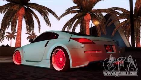 Nissan 350Z Minty Fresh for GTA San Andreas left view