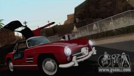 Mercedes-Benz 300SL 1955 for GTA San Andreas upper view