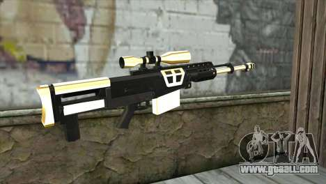 Golden Sniper Rifle for GTA San Andreas second screenshot