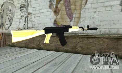 Golden AK47 for GTA San Andreas second screenshot