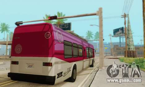Transit Bus из GTA 5 for GTA San Andreas back view