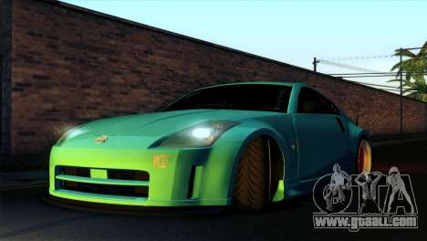 Nissan 350Z Minty Fresh for GTA San Andreas side view